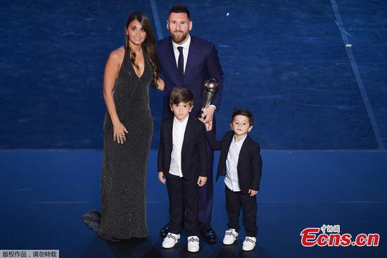 Messi wins best FIFA player of the year for record sixth time
