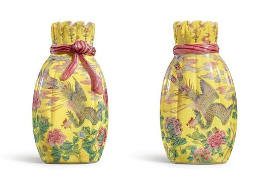 18th-century imperial enamelled vase to be auctioned in Hong Kong