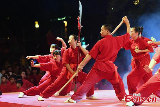Hakka community hosts martial arts show